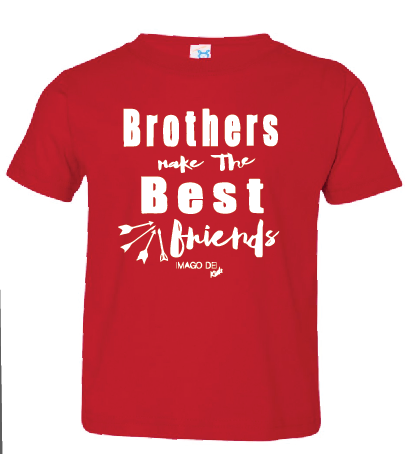 Brothers Make the Best Friends-Christmas Red Tee
