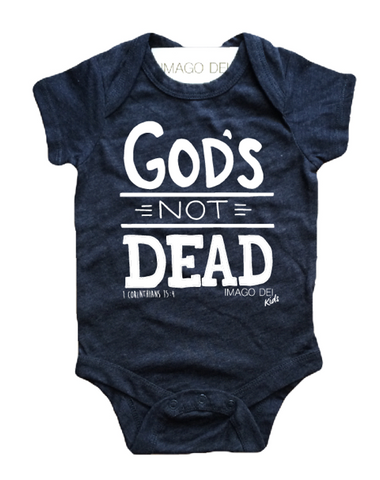 God's Not Dead-Vintage Blue Onesie
