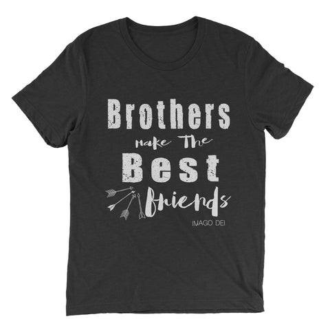 Brothers Make the Best Friends - Adult Black Tee