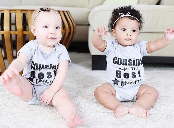 Cousins Make the Best Friends-Grey Onesie