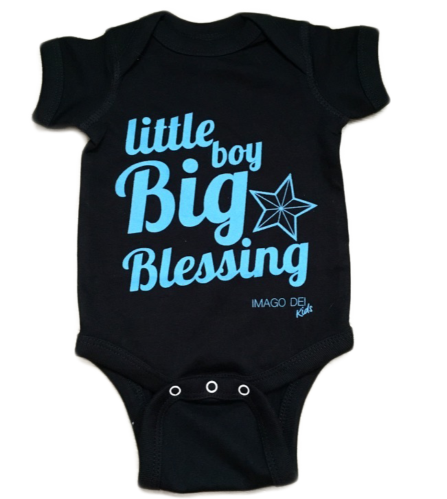 Little Boy, Big Blessing-Black Onesie