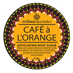 CAFÉ à l'ORANGE Anti-Cellulite Body Scrub|CAFÉ à l'ORANGE Exfoliante Anticelulítico