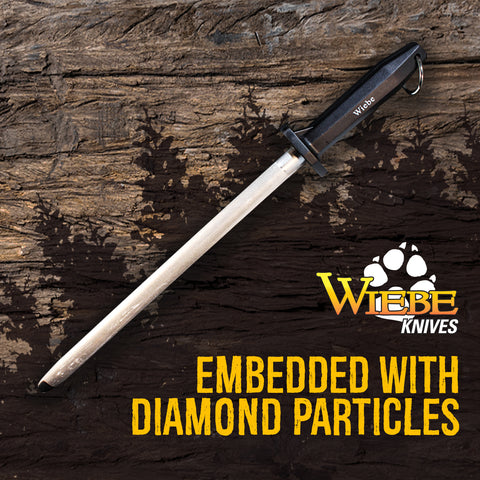 "Wiebe 12"" Diamond Sharpening Steel"