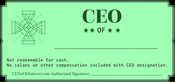 CEO of [whatever]