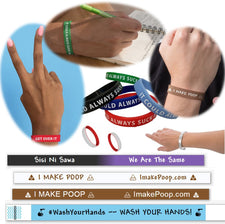 Wristband Whatever (Motivacelets.com? Inspiracelets.com? Reminders? Humor? Whatever!)