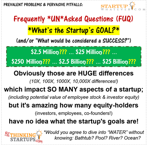 StartupWhatever.com - Frequently UN-asked Question: What's the Goal?