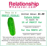 "zz-Template--Month, Year: ------Whatever.com ""PROFIT PICKLES?!"" (1 ""Pickle"" = 1% of 1 Product's Profits for: Month, 2020)"