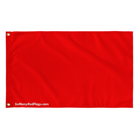 HUGE RED FLAG - 36''x60'' inch flag - SoManyRedFlags.com
