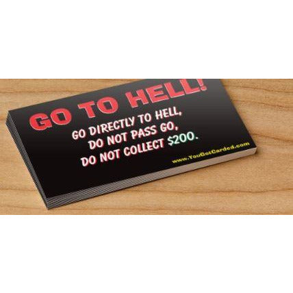 """Go To Hell"" Card"