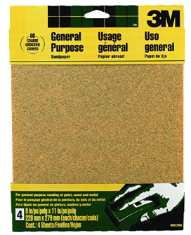 Emergency Toilet Paper - SAND PAPER -  Aluminum Oxide Sandpaper, Coarse, 9-Inch by 11-Inch