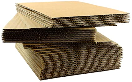 "Emergency Toilet Paper - Corrugated Cardboard Sheet Pads 1/16"" Thick 8.5 x 11 (Pack of 100)"