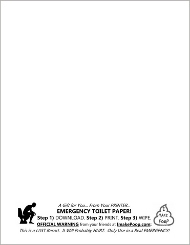 FREE: Download & Print - EMERGENCY TOILET PAPER!