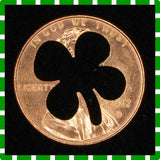 "4-Leaf-Clover LUCKY Penny! (""Whatever Pennies"" from PennyWhatever.com)"