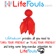 LifeFouls.com Red Challenge Flag