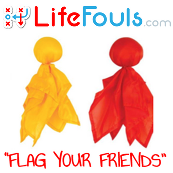 LifeFouls.com Yellow Penalty Flag and/or Red Challenge Flag