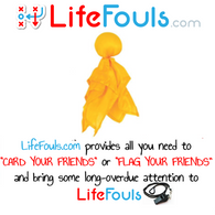 LifeFouls.com Yellow Penalty Flag