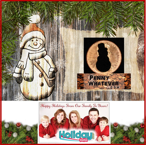 "SNOWMAN Holiday Penny! / SNOWWOMAN Holiday Penny / SNOWPERSON Holiday Penny (""Whatever Pennies"" from PennyWhatever.com)"