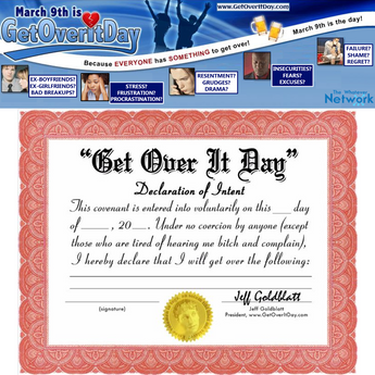 "GetOverItDay.com's ""Declaration of Intent to Get Over It"" Pledge - Download & Print"