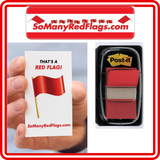 RED FLAG Post-Its! - SoManyRedFlags.com
