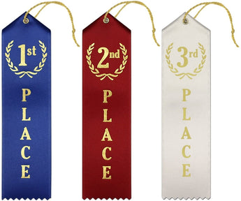 Ribbons: 1st, 2nd, 3rd (set of all 3)