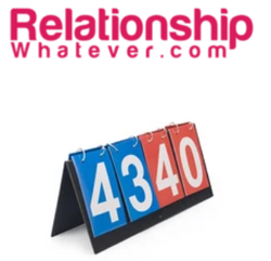 KEEP SCORE (in your relationship?!) with this Table-Top Relationship Scorekeeper!