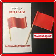 "THAT'S A RED FLAG! - The ""MINI"" (+ Card) - SoManyRedFlags.com"