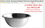 Stainless Steel Mixing Bowl - Doubles As a Stylish Hat!