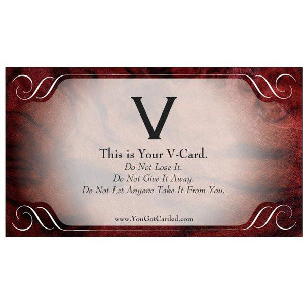 "YouGotCarded.com: ""V-Card"""