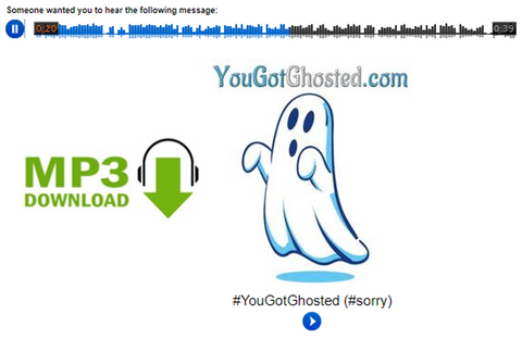 YouGotGhosted.com Audio MP3 / Instant Download