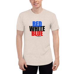 Red, White, and... WHAT?! (Tri-Blend)