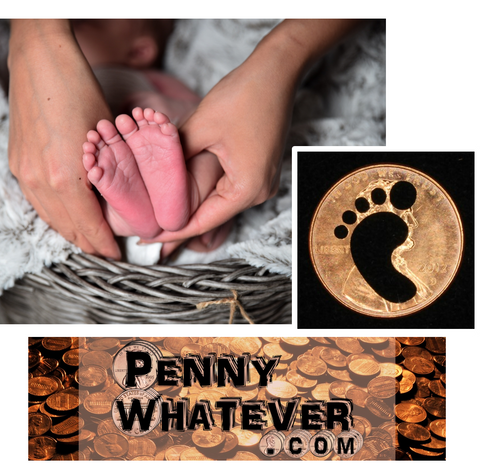 "FOOTPRINT Penny! (""Whatever Pennies"" from PennyWhatever.com)"