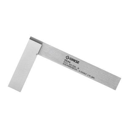 Precision Steel Square - 6-inch - Machinist Steel Square - 16 Micron Squareness