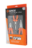 3pc. CrV Plier Set with 1000V TPR Grip