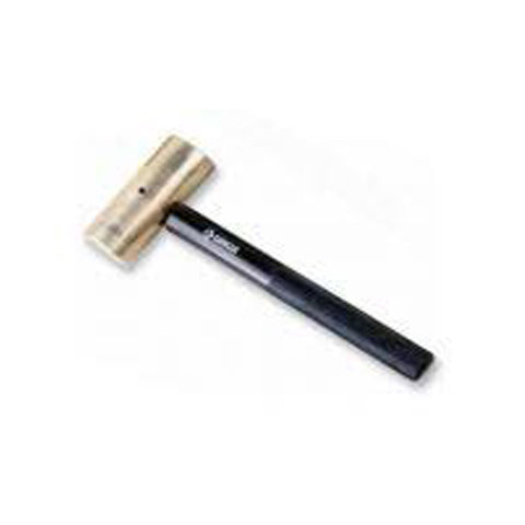 "1-3/4"" Brass Hammer with Black Oxidized Aluminum Handle, 4 lb."