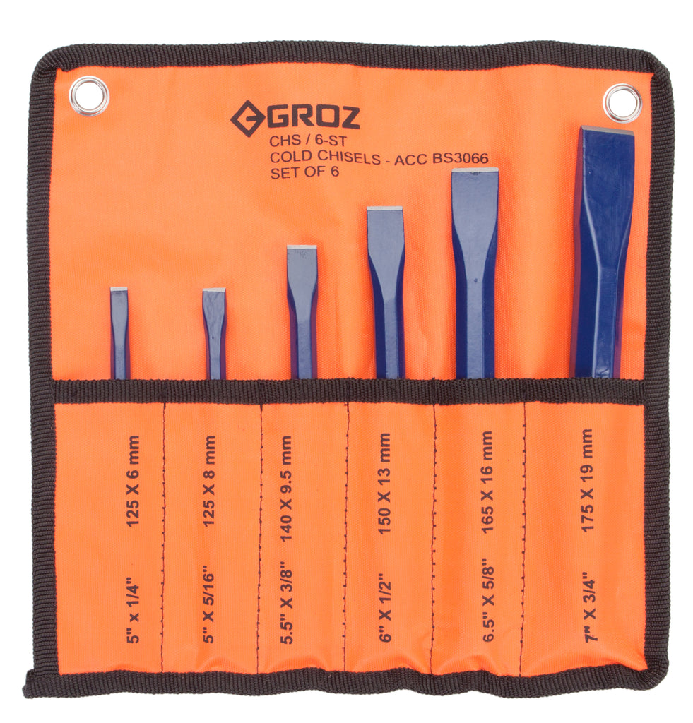 Set of 6 Chisels - 5 x 1/4, (Pack of 6)