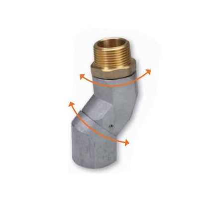 Fuel Nozzle Swivel 3/4 NPT x 3/4 NPT