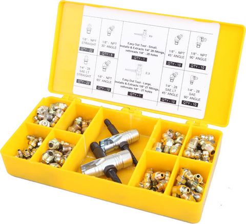 Grease Fitting Assortment, 101pc. with Box