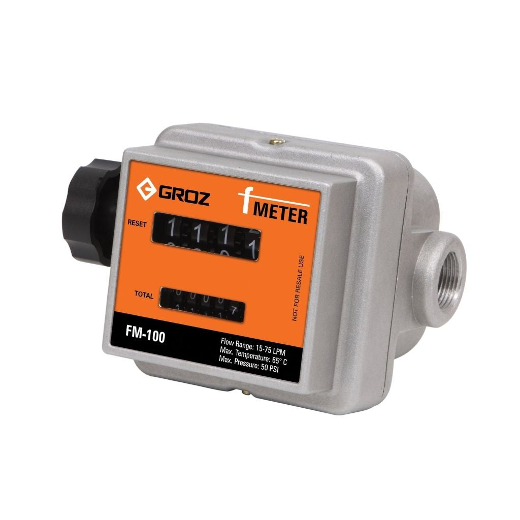 "Mechanical Fuel F-Meter, Metric, 3/4"" BSP"