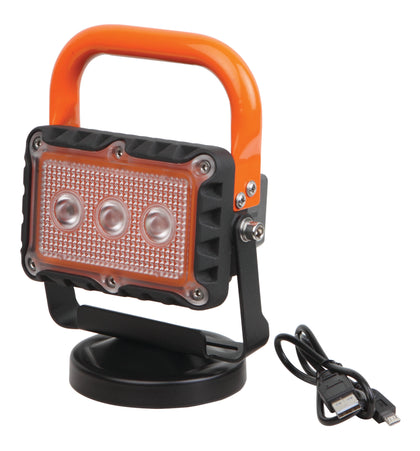 LED 9W Rechargeable work light with magnetic base work site lamp