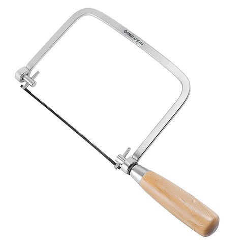 Coping Saw - Chrome Plated Frame - DIY -  Overall Length: 12-3/4""