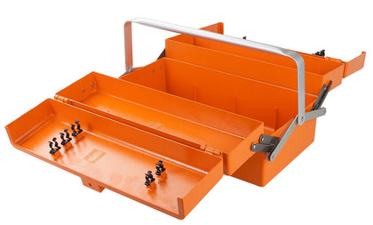 Aluminum Tool Box, Ultralight, 5 Tray Cantilever, Orange