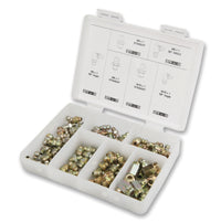 "SAE Grease Fitting Kit - 80-Piece -6,000 PSI - Includes 1/8""-27 & ¼"" - 27 Sizes (Straight, 45° and 90°)"