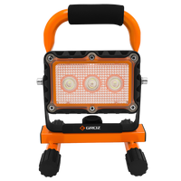LED 9W Rechargeable Site Lamp with Orange
