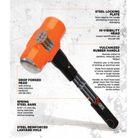 "30"" Indestructible Handle Sledge Hammer, 6 lb."