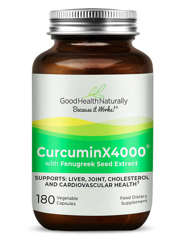 Curcumin x4000 with Fenugreek (180 Capsules)