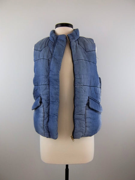 Romantic At Heart Denim Padded Vest