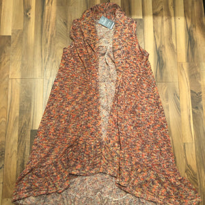 Multi-thread Rust Long Sweater Kimono - Mix & Mingle Boutique