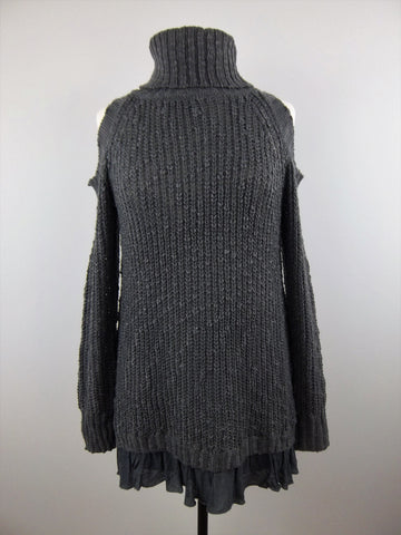 Going Out Tonight Sweater Grey - Mix & Mingle Boutique