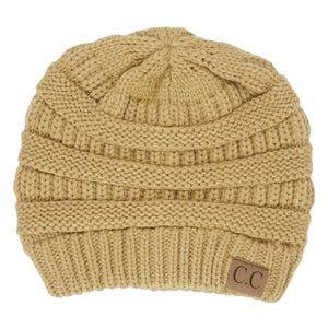 CC Beanie Camel - Mix & Mingle Boutique
