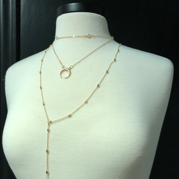 Multi-layer Crescent Necklace